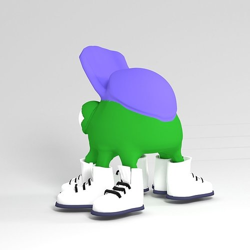 big-sneakers-and-cap-3d-model-obj-stl-bl