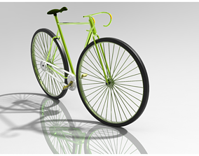Bicycle 3D print model toy