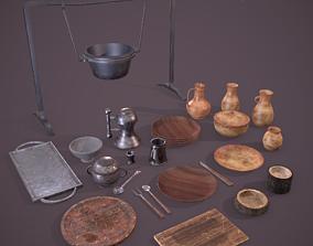 3D model Medieval Dishes