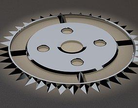 Gear in steampunk style 3D print model