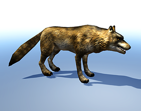 animated wolf 3d Model