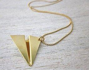 Minimal Plane Necklace 3D printable model