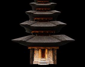Temple Pura Ulun Danu Bratan Indonesia 3D asset