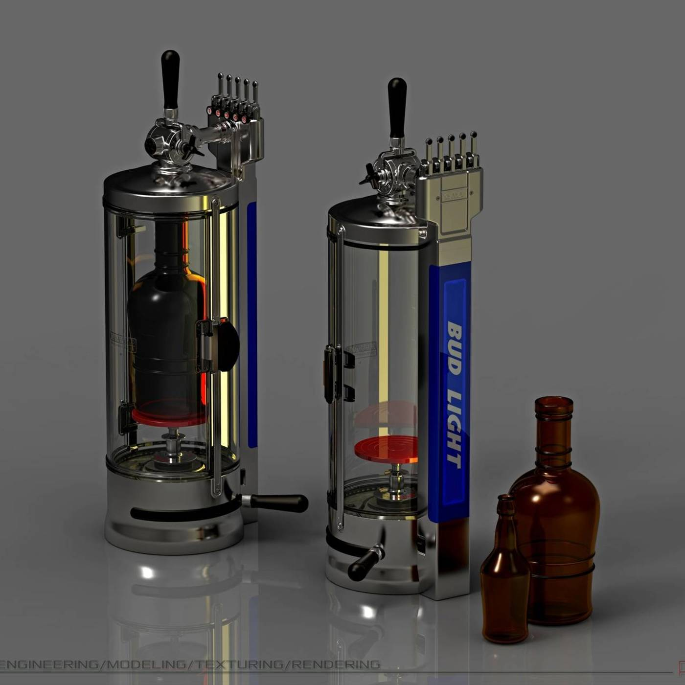 THE MACHINE IS SAFE, NON-FOAMING BEER BOTTLING IN GLASS CONTAINERS.