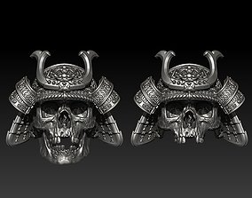 skull rings samurai 3D print model
