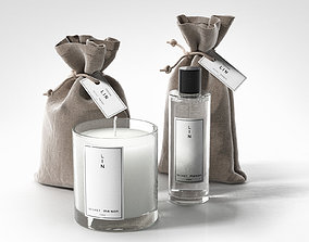 3D model Pouches Soy Candle and Bottle