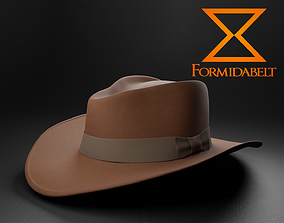 Realistic Game-Ready Fedora 3D asset