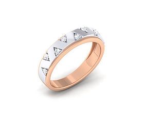 Diamond Couple Ring gold 3D printable model