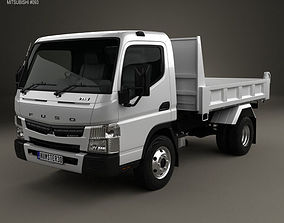 3D model Mitsubishi Fuso Canter Tipper Truck 2010
