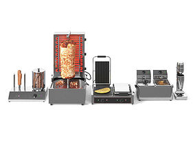 Equipment for Doner Cafe 3D