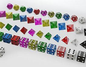 3D model Standard Dice several shapes detailed