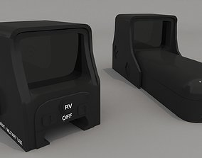 Holographic Sight 3D model realtime