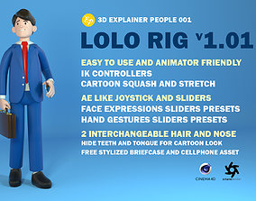 Lolo the stylized Businessman 3D model rigged