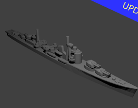 Japanese Akizuki Class Destroyer 3D print model