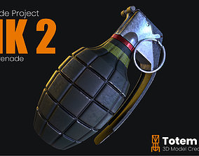 MK 2 Frag Grenade 3D asset game-ready