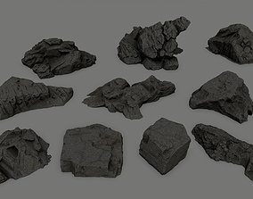 cliff rock set 1 3D asset