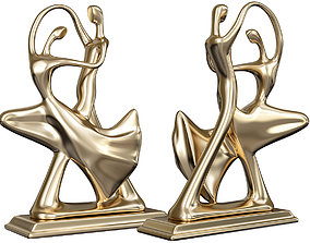 Dancing Couple Sculpture 3D model