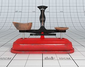 3D Old Metal Weights Scale