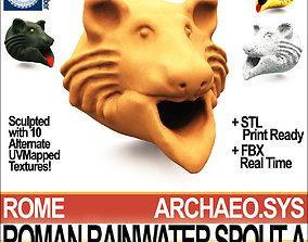 3D model Roman Rainwater Spout A