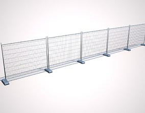 Wire Fence 3D model realtime