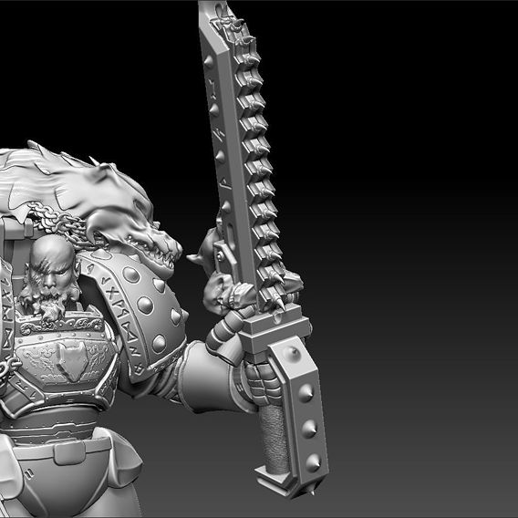 Space Wolves Wolf Guard Printable Figurine