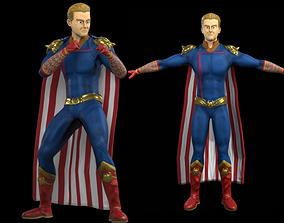 Homelander The boys 3D model Animated animated
