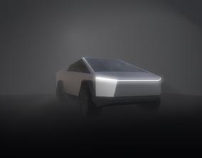 3D asset Tesla Cybertruck Low-Poly Model