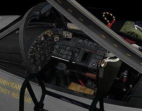 Canberra PR9 3D Cockpit animated
