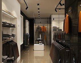 SMALL CLOTHES STORE FULL SCENE 3D MODEL mall