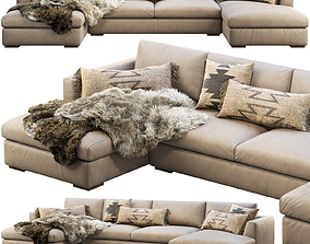 RH Modena Taper Arm U-Chaise sectional sofa 3D model