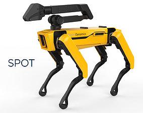 Boston Dynamics Spot Handle Yellow 3D model