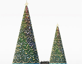 3D model fir Christmas tree for city