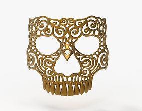 3d 3D print model Ornamet Skull Mask Sculpture