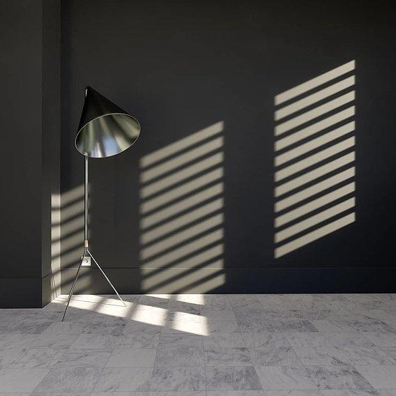 Interior lighting in c4d