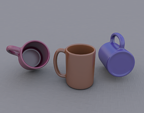 tea 3D model Procedural and editable Mug