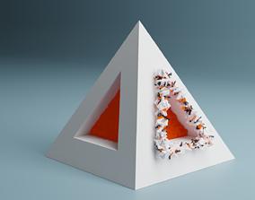 3D Abstract Splinter Pyramid