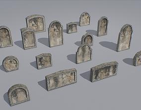 Gravestones pack 4 3D model