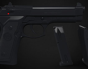 M9 Beretta - High poly 3D