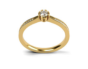 3D print model Engagement ring 26 ALL SIZES