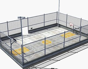 3D model Neighborhood Basketball Court