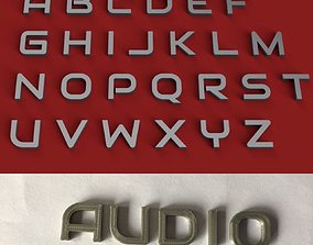 AUDIO uppercase and lowercase 3D Letters STL FILE