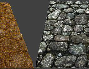 Tiling Medieval Stone Wall 3D asset VR / AR ready