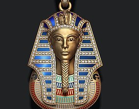 3D print model Pharaoh pendant with gems and enamel