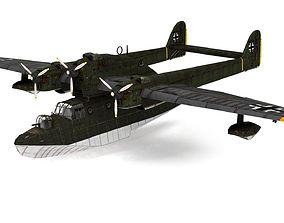 3D asset Blohm German flying boat