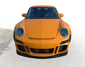 porsche 911gt3 cartoon car 3D model