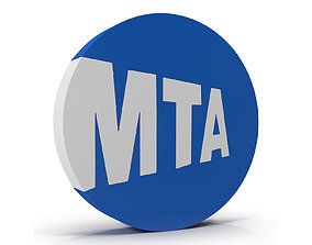 New York Subway Logo 3D