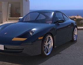 3D model Porsche 911 Carrera 1998