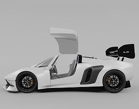 3D model Nemsis v8 super sports racing car concept design