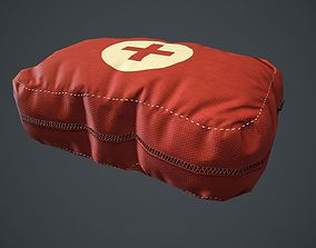 3D asset Red First Aid Kit PBR Game Ready