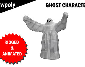animated Ghost 3d model Rigged and Animated